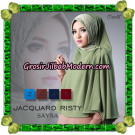 Jilbab Khimar Instant Jacquard Risty Original By Sayra Hijab Brand