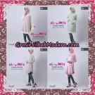 Jilbab Lengan Tunik Pastel Original By Almia ( Al-Mi'a Brand )