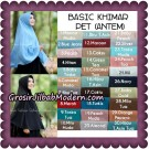 Jilbab Basic Khimar Pet Antem Exclusive Original by Qalisya
