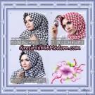 Jilbab Segi 4 Monochrome Original Firza Hijab Support Oneto Hijab