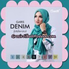Pashmina Garis Denim By Umama Support Oneto Hijab