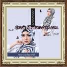 Pashmina Premium H&S Monochrome By Umama Scarf Support Oneto Hijab