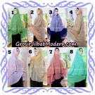 Jilbab Syari Modern Khimar Halwa Brukat Seri 4 Original by Qalisya Hijab Brand