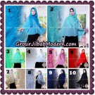 Jilbab Syari Modern Khimar Halwa Brukat Seri 5 Glitter Original by Qalisya Hijab Brand