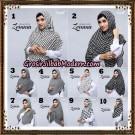 Jilbab Instant Cantik Zema Hitam Putih Support Oneto Hijab