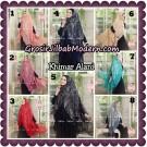 Jilbab Syari Brukat Khimar Alani Original by Qalisya Hijab Brand
