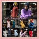 Setelan Gamis Polos dan Hijab Minlange Original By AlMia Brand