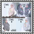 Jilbab Instant 2 Faces Flowing Stripe Original By Flow Idea