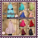 Jilbab Syari Khimar Maizan Zipper Original by Qalisya Hijab Brand