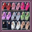 Jilbab Instant Plisket Metalik Lipit Original By Flow Idea Hijab